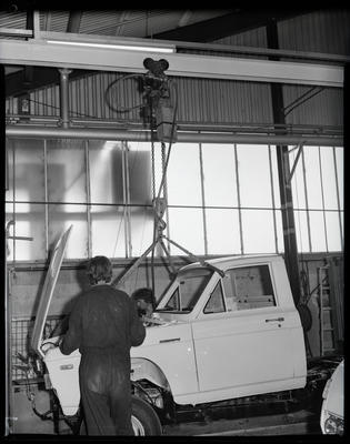 Film negative: Atlas Copco Limited, hoist in car assembly