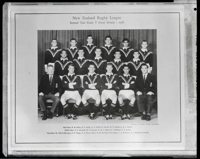 Film negative: New Zealand Rugby League Team vs Great Britain, 2nd test, 1966