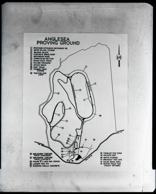 Film negative: International Harvester Company: map of Anglesea proving ground