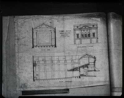 Film negative: W Williamson Contruction Company, plans for 'Everybody's Theatre'
