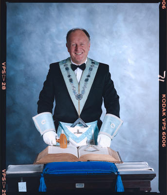 Negative: Unnamed Freemason Portrait