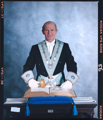 Negative: Unnamed Freemason Portrait