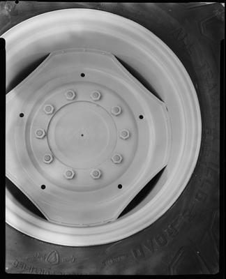 Film negative: International Harvester Company: tracgrip back wheel