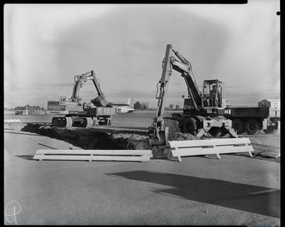 Film negative: Industrial Steel and Plant Limited, Proclam diggers at Harewood