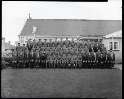 Film negative: Addington Army Barracks, Sergeants mess group
