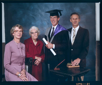 Negative: Mr Eden Graduate and Family