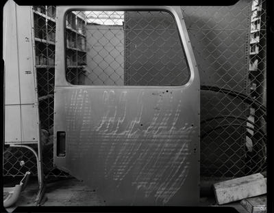 Film negative: International Harvester Company: safety frame and truck door panel