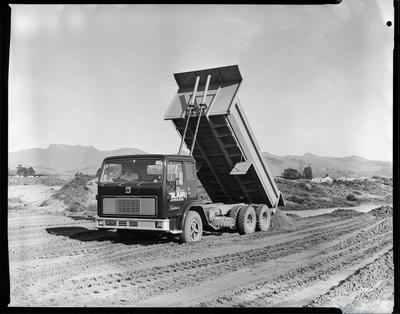 Film negative: Blair Construction, ACCOA truck at Bromley