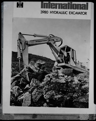 Film negative: International Harvester Company: excavator