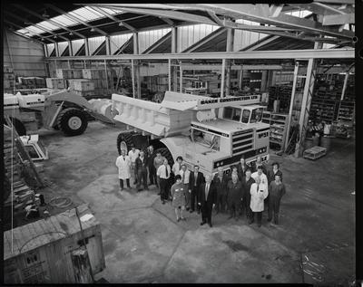 Film negative: International Harvester Company: pay hauler and staff