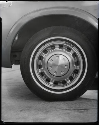 Film negative: International Harvester Company: tyre pando and car wheel