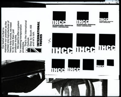 Film negative: International Harvester Company: symbols and lettering