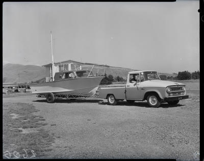 Film negative: International Harvester Company: c-line truck and boat
