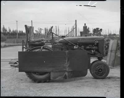Film negative: International Harvester Company: super A tractor at Harrows