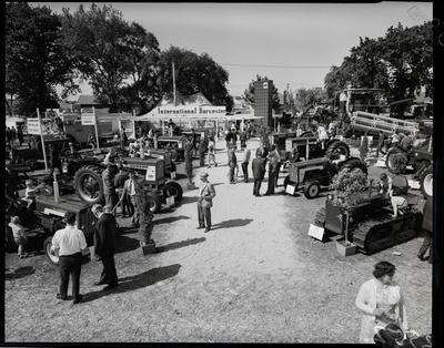 Film negative: International Harvester Company: tractors at stand