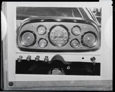 Film negative: International Harvester Company: c-line ute instrument panel