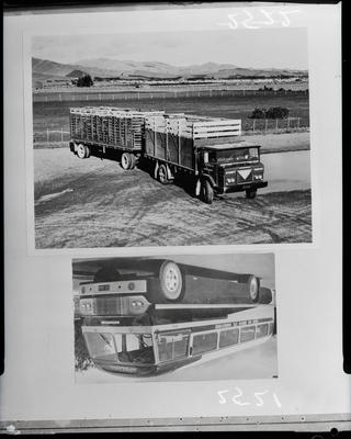 Film negative: International Harvester Company: coach, truck and trailer