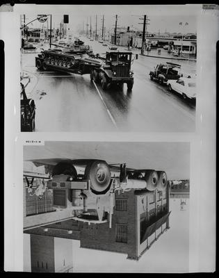 Film negative: International Harvester Company: super truck chassis, tank transporter
