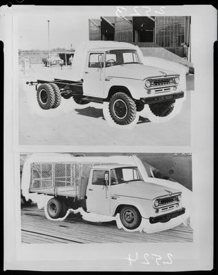 Film negative: International Harvester Company: c-line truck chassis; with cage