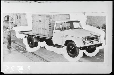 Film negative: International Harvester Company: c-line truck being loaded