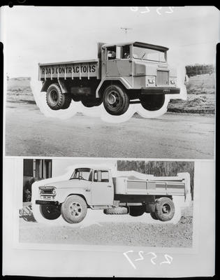 Film negative: International Harvester Company: c-line tip-truck cab and forward control
