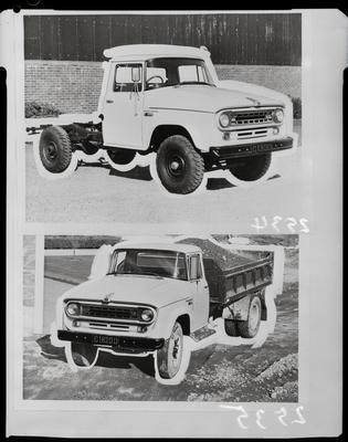 Film negative: International Harvester Company: c-line tip-truck chassis