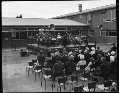Film negative: St Bedes College, the opening of Brodie Hall and classroom block
