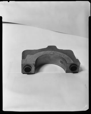Film negative: International Harvester Company: damaged crankshaft of a Perkins motor