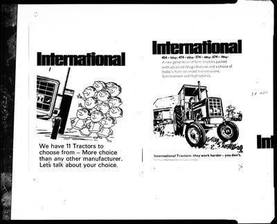 Film negative: International Harvester Company: tractor advertisement