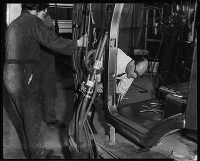 Film negative: International Harvester Company: Steel Brothers auto assembly