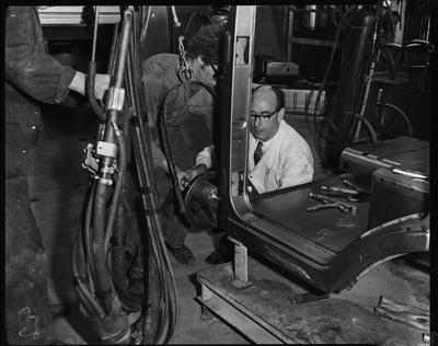 Film negative: International Harvester Company: Steel Brothers auto assembly