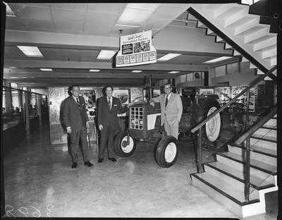 Film negative: International Harvester Company: visit of Mr Mugford and Mr Johnston, presented to Mr G J Ryan and the directors