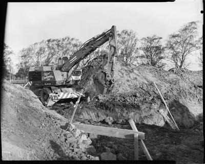 Film negative: Industrial Steel and Plant Limited, Proclam wheeled digger