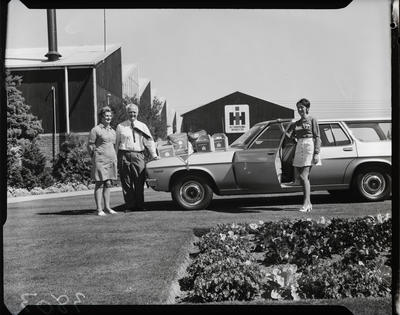 Film negative: International Harvester Company: games courtesy car