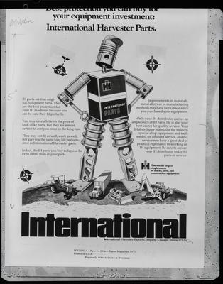 Film negative: International Harvester Company: poster