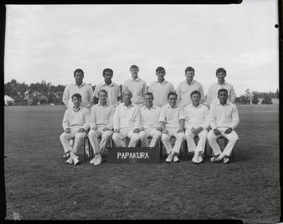 Film negative: Inter-district cricket, Papakura team