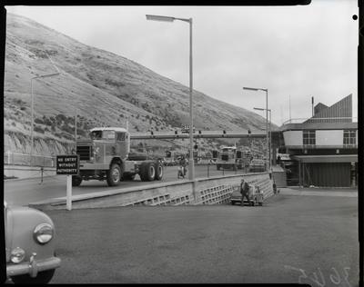 Film negative: International Harvester Company: Pacific trucks at Lyttelton