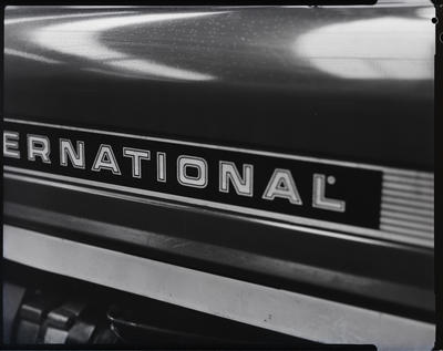 Film negative: International Harvester Company: bad paint on tractor