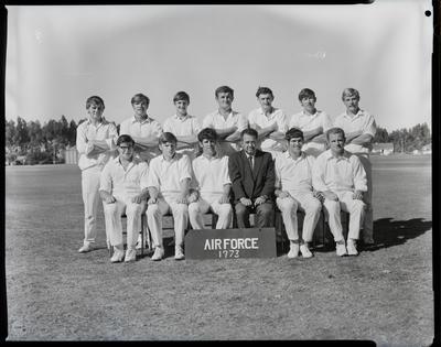 Film negative: Burnham Inter-service cricket teams, Air Force