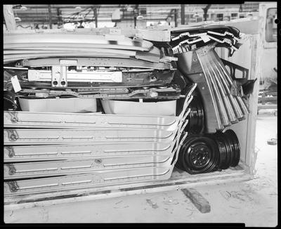 Film negative: International Harvester Company: Toyota packing cases of CKD cars