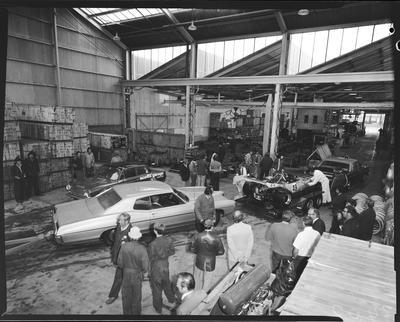Film negative: International Harvester Company: racing cars at Blenheim Road