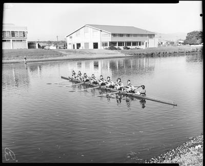 Film negative: St Bedes College, rowing crew 1975