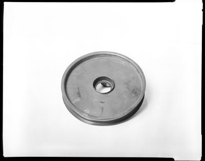 Film negative: International Harvester Company: broken pulleys and belt
