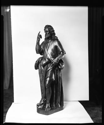 Film negative: Sanyac Dealers, statue of Christ