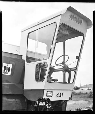 Film negative: International Harvester Company: cab on a 431 header
