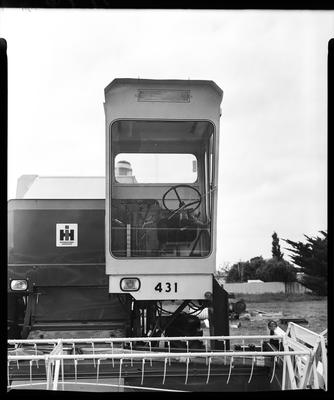 Film negative: International Harvester Company: cab on a 431 header