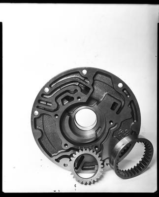 Film negative: International Harvester Company: damaged auto transmission