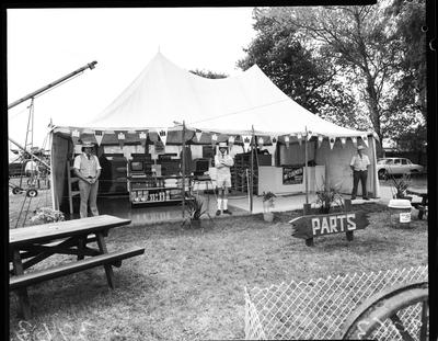Film negative: International Harvester Company: show, stand views