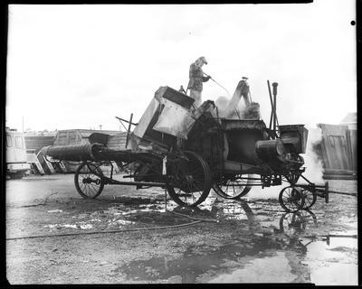 Film negative: International Harvester Company: old thresher