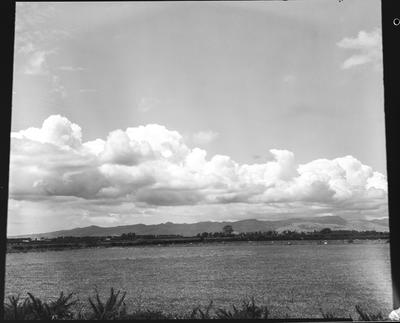 Film negative: Cloud formations